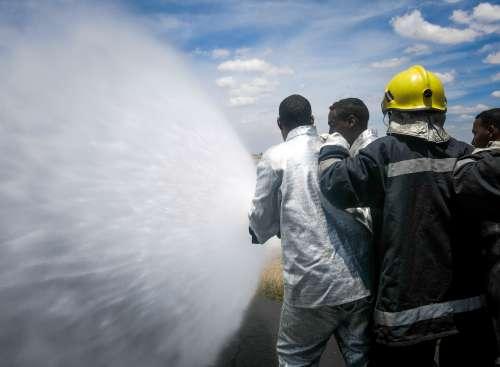 people, men, workforce, water, firefighters, rescue