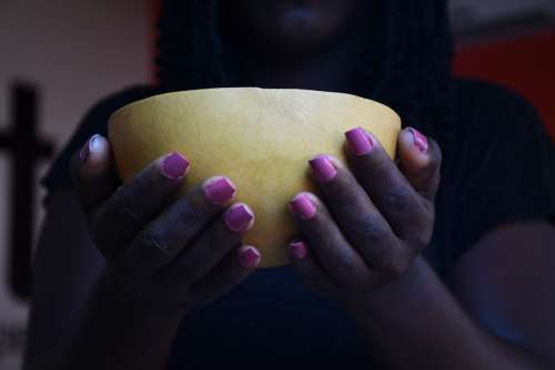 woman, girl, people, hand, drink, welcome, tradition, calabash, fingernail, manicure, varnish, nails