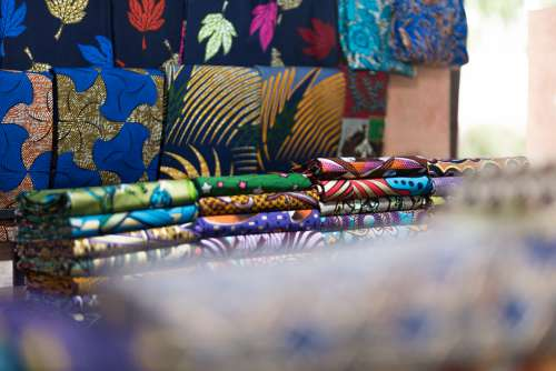 market, african prints, trade, loincloth, fabrics, fashion, tchigan, wax, chic, color, shop, exhibition, patterns