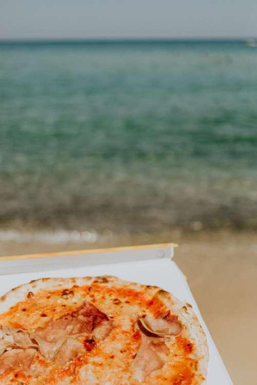 Pizza on the beach of Sardinia