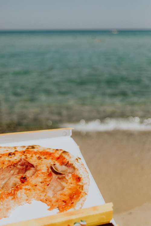 Pizza on the beach of Sardinia