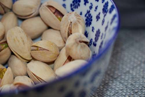 pistachios bowl nuts roasted snack