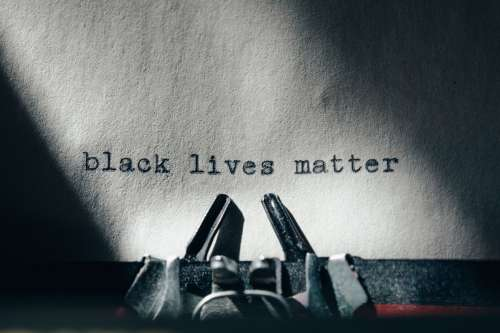 Close Up Of Black Lives Matter Lettering Photo