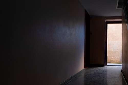 Light Peeking Through An Open Door Photo