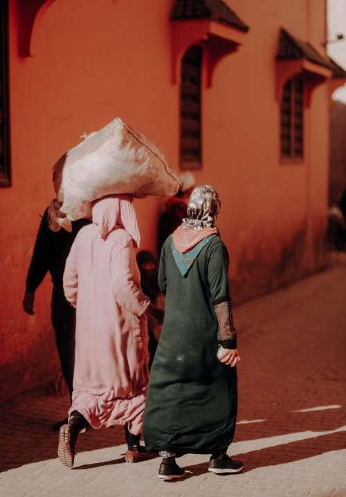 Women Walking In Morocco