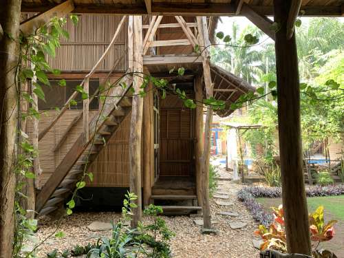 people, home, house, recreation, wooden house, trees, garden, local