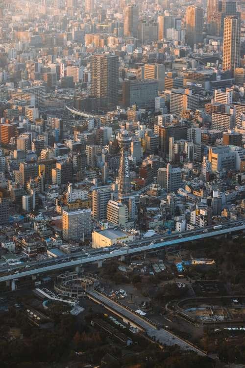 Osaka At Twilight