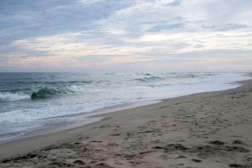 Beach Sand Waves Free Photo