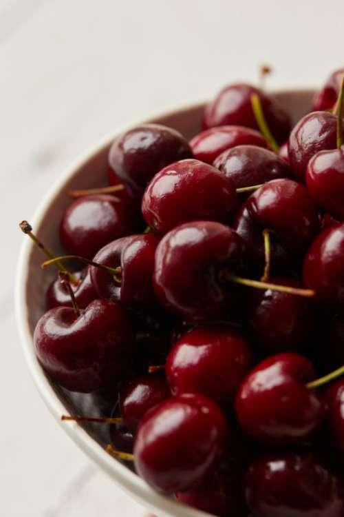Cherries Bowl Free Photo