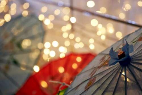 Umbrella City Background Free Photo