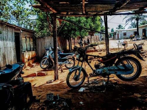 wheel, motorbike, transportation system, vehicle, street, mechanical workshop, transport, spare parts,