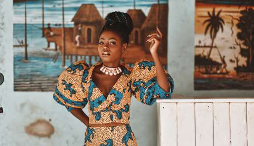 woman, people, facial expression, standing, beauty, pretty girl, nice, style, fashion, mannequin, model, pose, posture, elegant, makeup, manicure, aesthetic, gestural, wax, fabrics, african prints