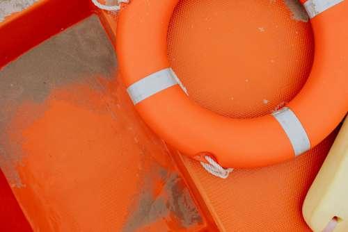 Lifeguard boat on Baltic coast