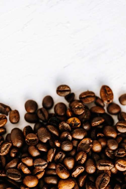 Dark roast coffee beans background
