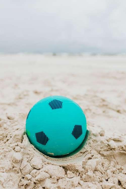 Children's toys on the beach
