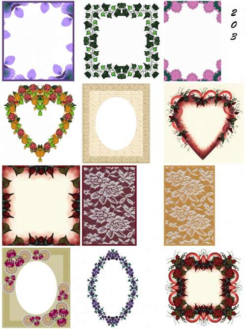 Mini Frames Floral Lace Assorted