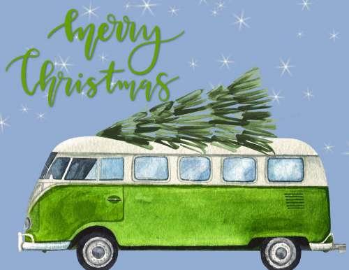 Christmas Volkswagen Bus