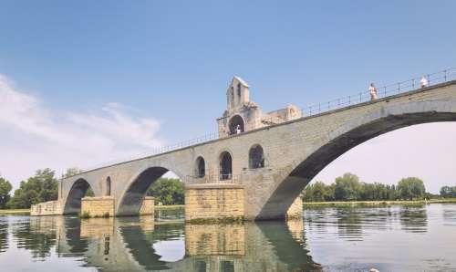 Bridge Over River At Avignon