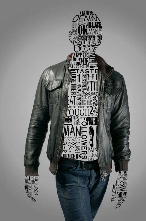 Male Fashion Graphic With Text 2