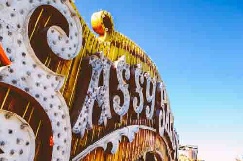 Retro Marquee Sign Saying 'Sassy'