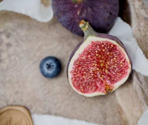 A Close Up Of Half Of A Fig Photo
