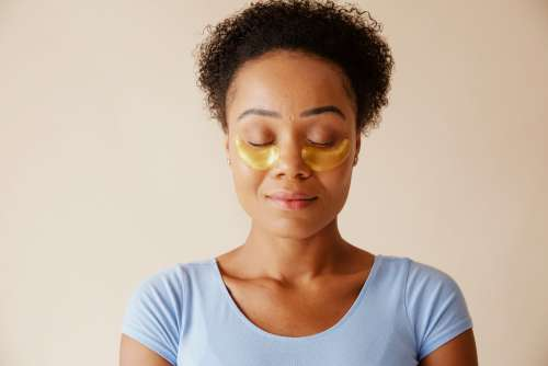Closed Eyes With Under Eye Patches Photo