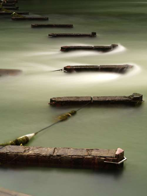 Deep Green Misty Waters Photo