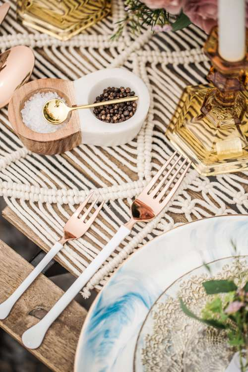 Modern Tableware Design In Outdoor Setting Photo
