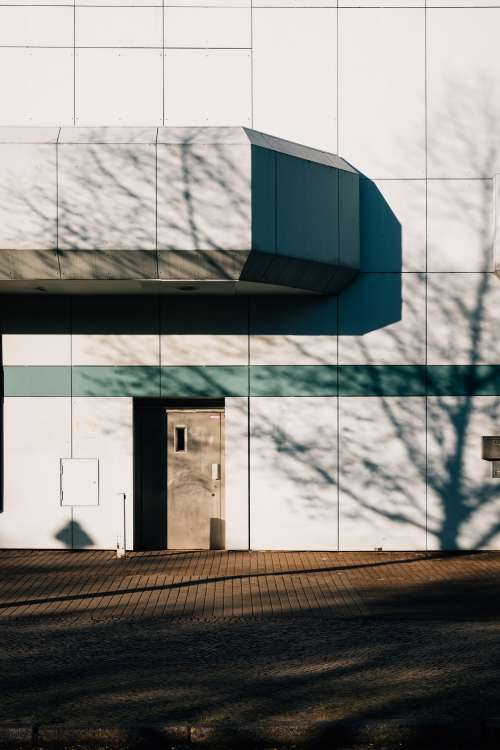 Harsh Shadows On Contemporary Building Photo
