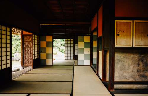 Tatami Mat Flooring And Sliding Doors Photo