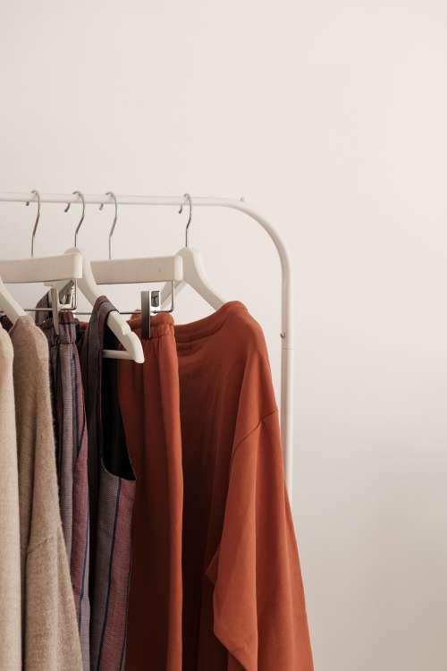 Minimal Clothing Displayed In Store Photo