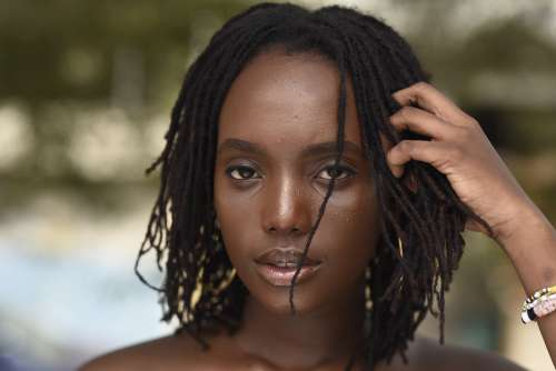 people, woman, girl, beauty, ebony, black skin, style, facial expression, pretty girl, nice, fashion, mannequin, model, pose, hairstyle, haircut, braids, rasta, locks, look