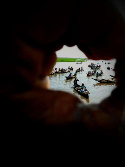 river, lake, travel, transport, boats, canoes, hand, landcape