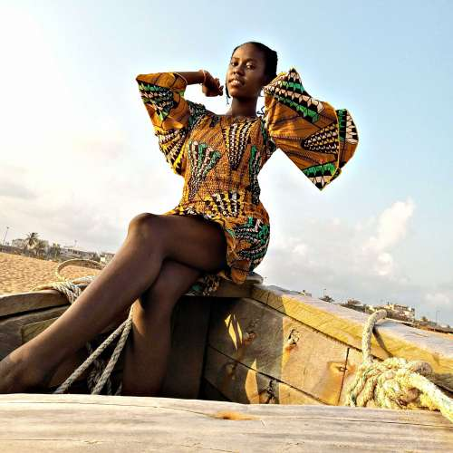 people, woman, facial expression, african prints, wax, fashion, lifestyle, summer, gestural, pose, posture, model, leisure