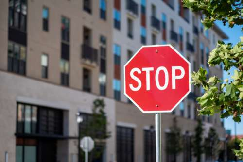 Stop Sign City Free Photo