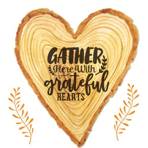 Thanksgiving Wooden Heart