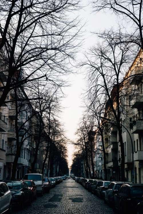 Morning Street Photos On Narrow Street Photo