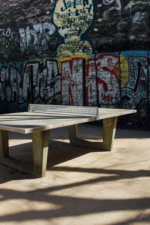 Sturdy Concrete Ping Pong Table Photo