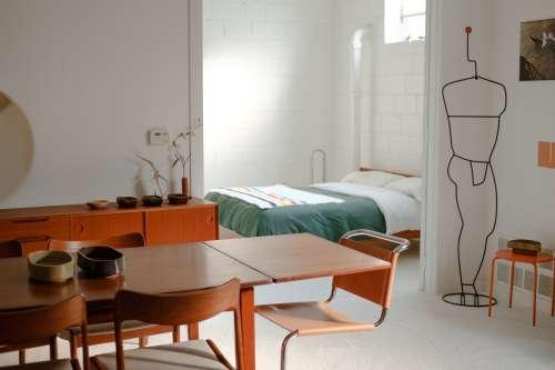 Open Plan Mid Century Modern Apartment Photo