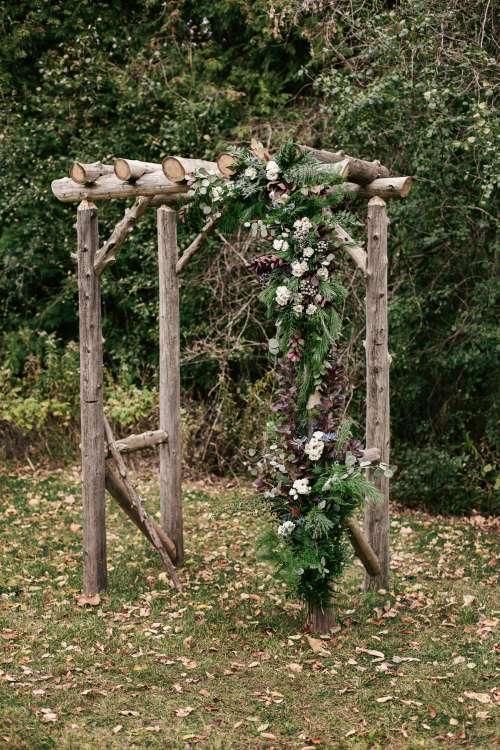 A Custom Flowered Wedding Archway Photo