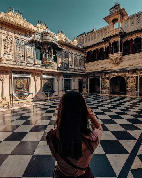 Woman Photographs Beautiful Architecture Photo