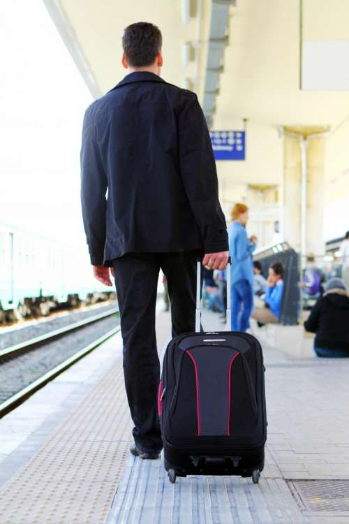 Man with his baggage