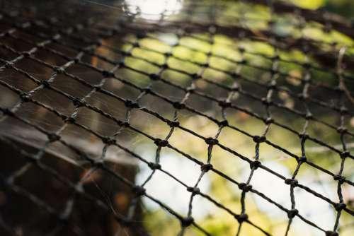 Fish net closeup