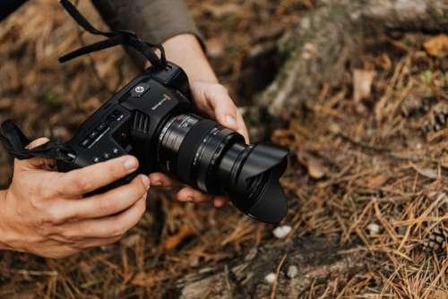 Blackmagic Pocket Cinema Camera 4K with Panasonic Lumix 12-35mm f/2.8