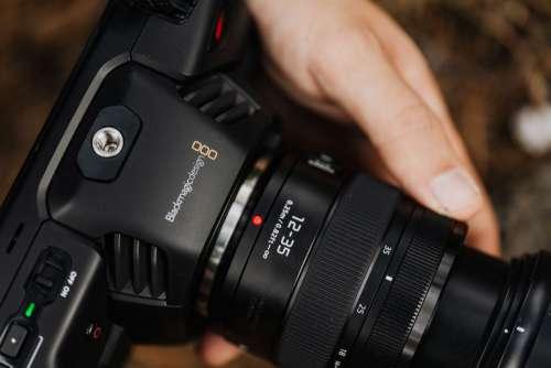 Blackmagic Pocket Cinema Camera 4K with Panasonic Lumix 12-35mm f 2.8