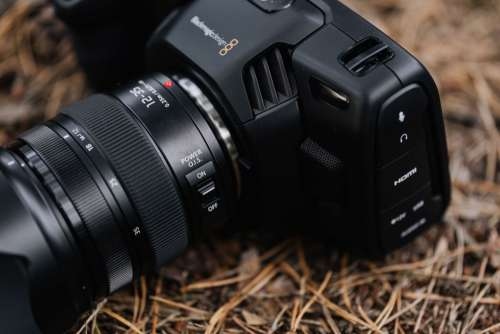Blackmagic Pocket Cinema Camera 4K with Panasonic Lumix 12-35mm f 2.8
