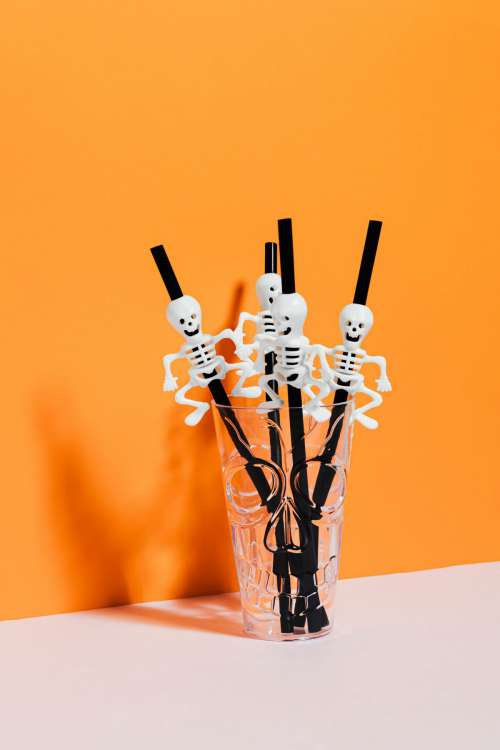 Halloween objects with negative space