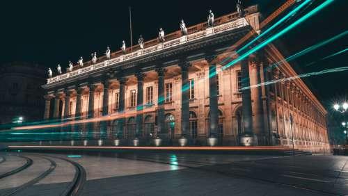 Illuminated building