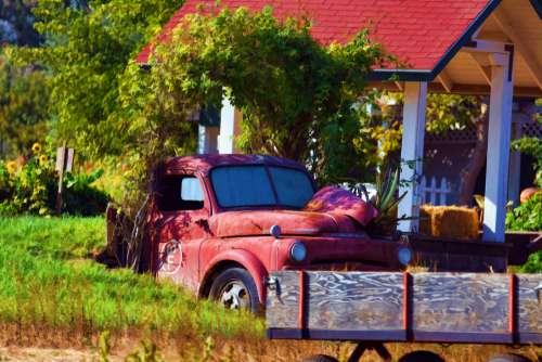 Autumn Farm Truck