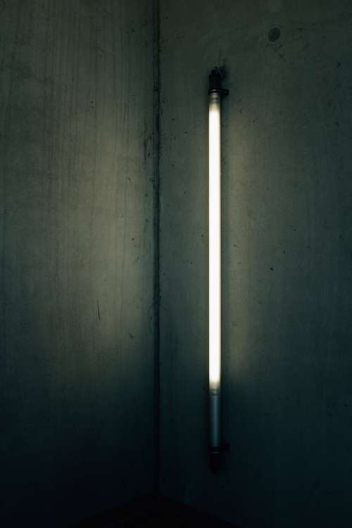 Tube Lights In An Underground Structure Photo